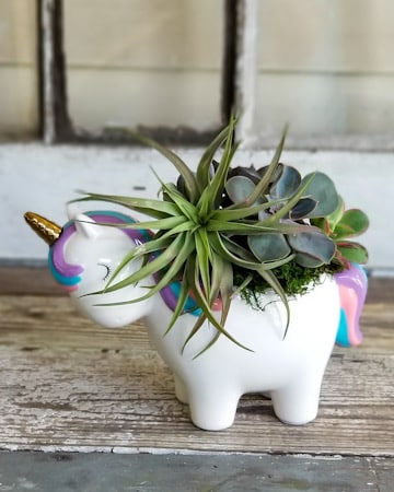 Forest Fantasy Unicorn Flower Arrangement