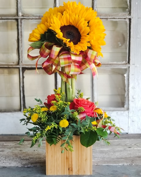 Fall Topiary Flower Arrangement