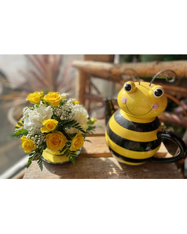 Buzzie and Tea Pitcher