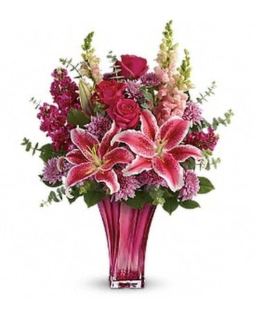 Teleflora's Bold Elegance Bouquet - by Chalet Flow Flower Arrangement