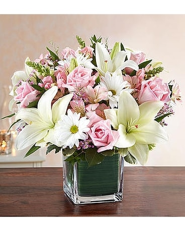 Healing tears pink white in alameda ca central florist healing tears pink white flower arrangement mightylinksfo