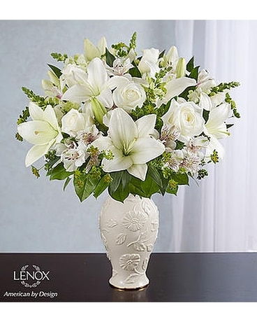 Funeral flowers floral arrangements delivery alameda ca central loving blooms lenox all white mightylinksfo