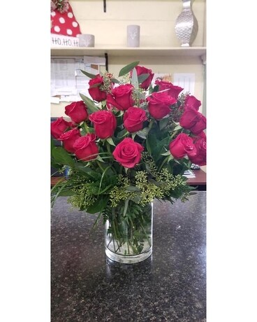 2 Dozen Roses Flower Arrangement