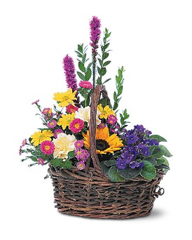 Basket of Glory Flower Arrangement