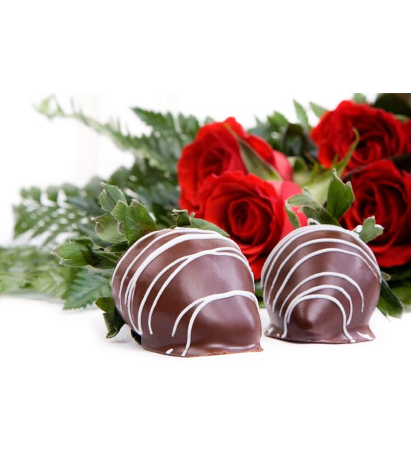 4pc Chocolate Covered Strawberries