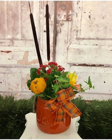 Hayride Planter Flower Arrangement