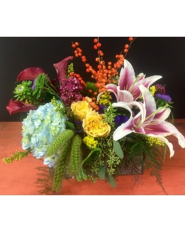 Texture Box Flower Arrangement