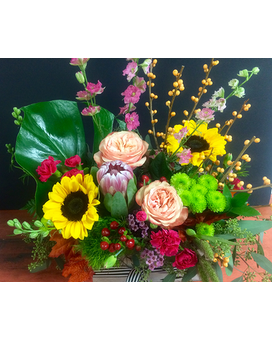 Bright & Beautiful Box Flower Arrangement