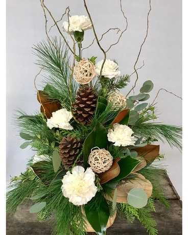 White Magnolia Floral Arrangement Flower Arrangement