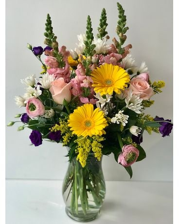 Sunshine & Smiles Vase Arrangement Flower Arrangement