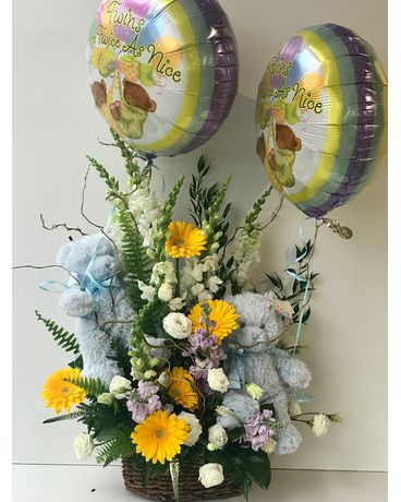 Twin Happiness Flower Arrangement Flower Arrangement
