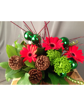 Glorious Green Holiday Christmas Bouquet