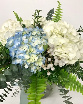 Happy Hydrangea Vase Arrangement Flower Arrangement