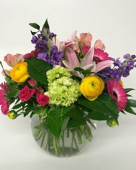 When She Loves Flowers Vase Arrangement Flower Arrangement