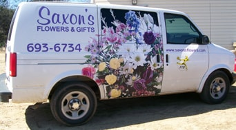 Saxon's Flowers & Gifts Delivery Van