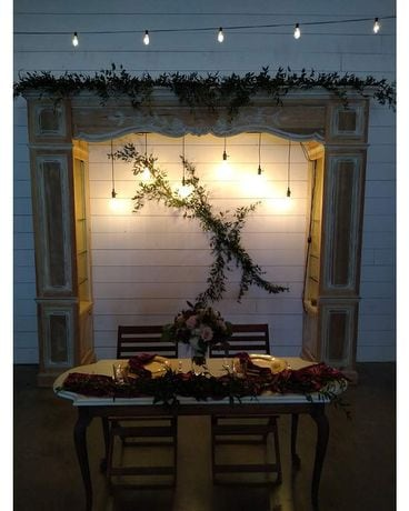Mantle Garland Flower Arrangement