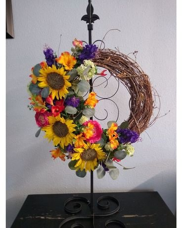 Silk Wreath Flower Arrangement