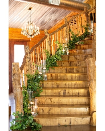 Staircase Decor Flower Arrangement
