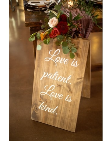 Sign Arrangement Flower Arrangement