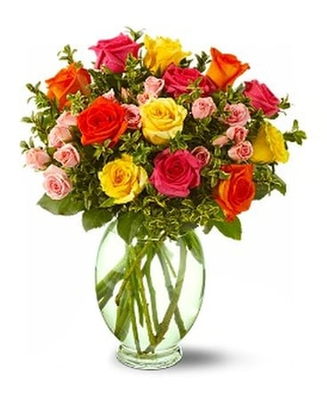 Teleflora's Summertime Roses - by Kutchey's Flower Flower Arrangement