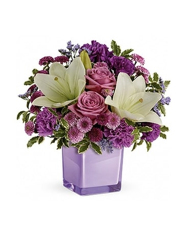 Pleasing Purple Flower Arrangement