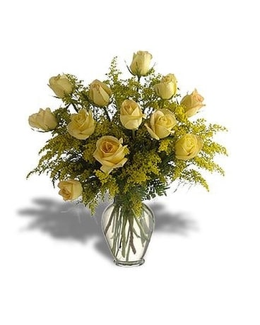 Yellow Rose Parade - by Peggy's Flower Shop Flower Arrangement