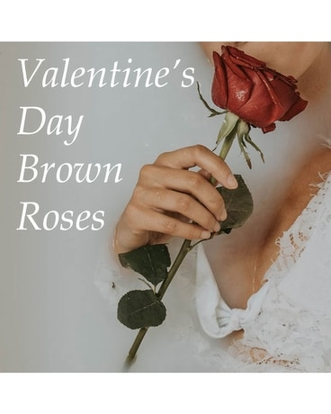 Brown Roses Valentine's Day Flower Arrangement