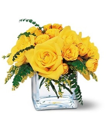 Yellow Rose Bravo! Flower Arrangement