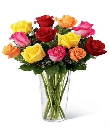 Colors in Roses Flower Arrangement