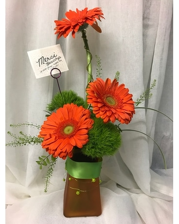Thankfully  Gerbera Flower Arrangement