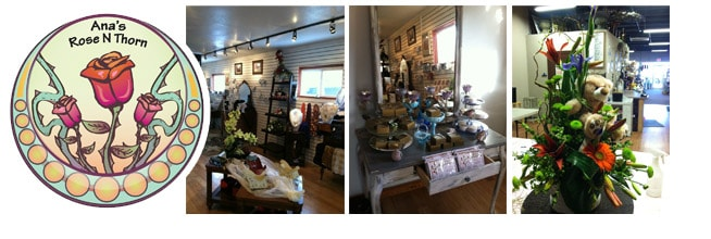 Interior pictures of Ana's Rose N Thorn Florist in Bend, OR