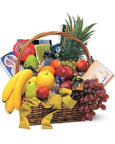 Gourmet Fruit Basket Basket Arrangement