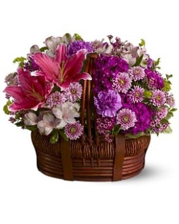 Basket of bliss in bonita springs fl bonita blooms flower shop inc basket of bliss basket arrangement mightylinksfo