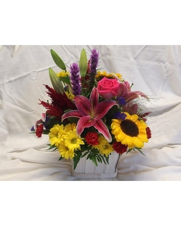 Bright Summer Day Flower Arrangement
