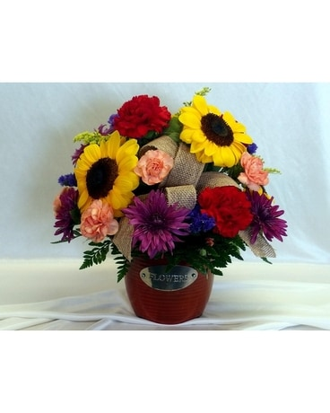 Country Sunflowers Flower Arrangement