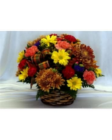 Autumn Basket Flower Arrangement