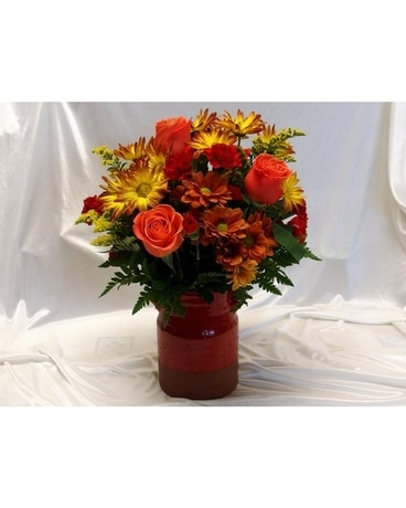 Teleflora Heirloom Crock Flower Arrangement