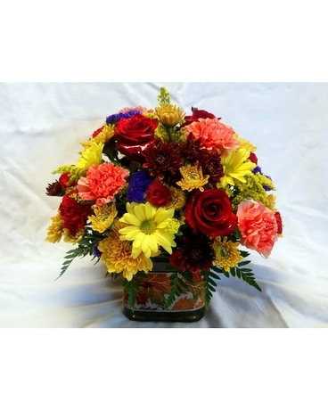 Autumn Cube Flower Arrangement
