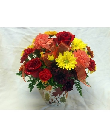 Fall Brights Flower Arrangement