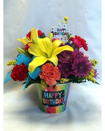 Birthday Surprise Flower Arrangement
