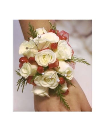 Roses and Ribbon Wrist Corsage