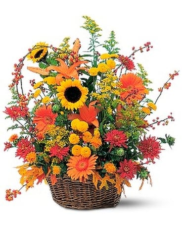 Majestic Fall - by 2 Crazy Girls Flower Arrangement