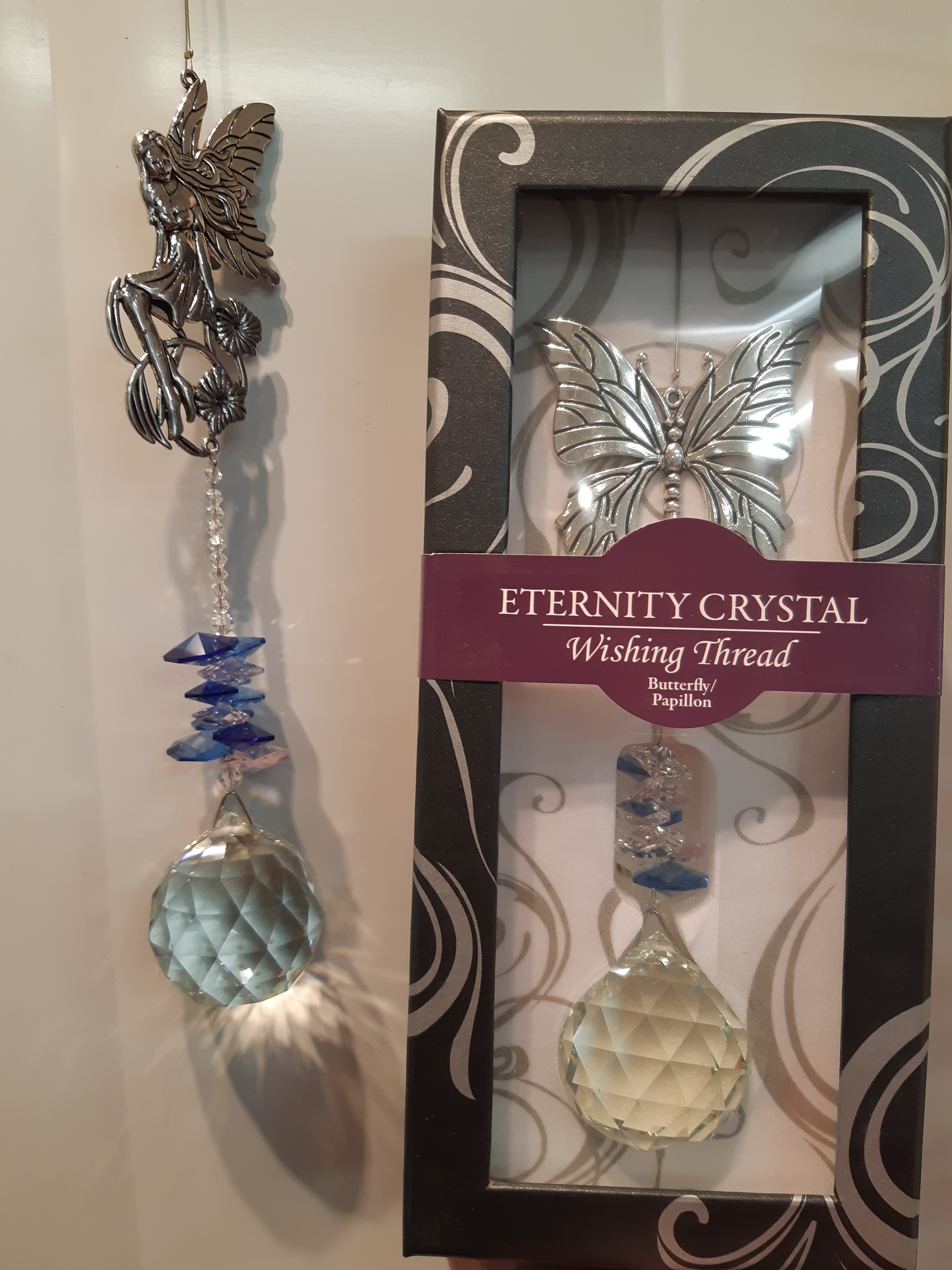 Eternity Crystal Wishing Thread Prism with Assorted Charms