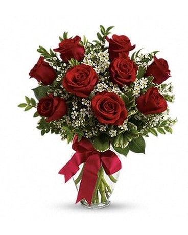 9 Rose Bouquet Flower Arrangement