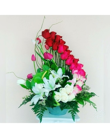 Three Dozen Love Deeply Spiral Flower Arrangement