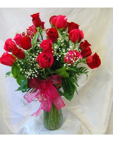 LIMITED TIME TWO DOZEN RED ROSES Flower Arrangement