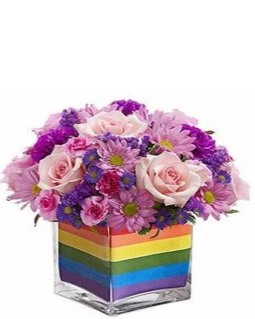 Rainbow Wishes Flower Arrangement