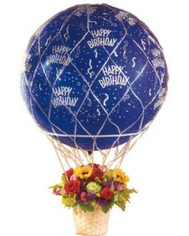 Up Up and Away Birthday Flower Arrangement