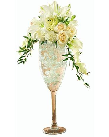 Champaign Dreams Flower Arrangement