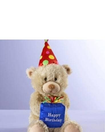 Happy Birthday Bear Flower Arrangement